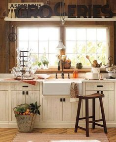 Scrumptious Kitchen remodel johannesburg,Small kitchen cabinets models and Small kitchen dining room remodel. Small Country Kitchens, Country Kitchen Designs, Kitchen Country, Country Sink, Colonial Kitchen, Design Kitchen, Deco Design, Küchen Design, House Design