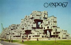 Dear Louis, Habitat 67 is a well-known housing complex located in Montreal, Canada. Its design was created by architect Moshe Safdie based . Expo 67 Montreal, Montreal Ville, Montreal Quebec, Montreal Canada, Quebec City, Architecture Design, Montreal Architecture, Beautiful Architecture, Best Architects