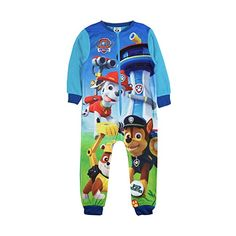 03b2282e57 Boys Fleece Character Onesie Pyjamas Childrens All In One Pj's Size UK 1-10  Years