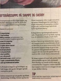 Svampesuppe med sherry