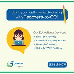 Start your self-paced learning with us!  www.teachers-to-go.com