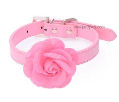 Romantico collar con flores para tu perrita, tallas xs y small disponibles.  Collar para chihuahuas, collar para yorkshire terrier, pomeranias y cachorritas.