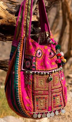 KUCHI PRINCESS Banjara Afghan Embroidery by BohemianSpiritBags, $390.00