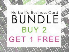 Herbalife Business Card Digital Template by WackyJacquisDesigns