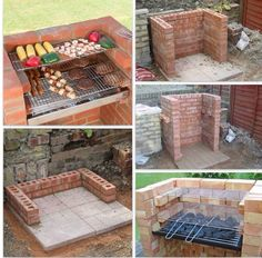 backyard design – Gardening Tips Diy Outdoor Kitchen, Outdoor Cooking, Backyard Patio, Backyard Landscaping, Brick Grill, Outside Grill, Fire Pit Grill, Diy Garden Bed, Grill Design