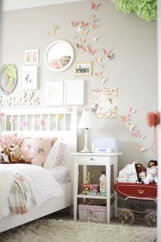 Romantische meisjeskamer. Welk meisje droomt er nou niet van deze kamer?