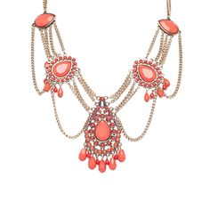 Robert Rose Stone & Chain Statement Necklace Spice mix up to 70% off | Jewelry | Little Black Bag