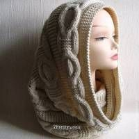 70 Trendy Ideas For Knitting Scarf Pattern Infinity Knitting Patterns Free, Knit Patterns, Free Knitting, Knitting Stitches, Knitting Needles, Cowl Scarf, Tube Scarf, Cowl Neck, Neck Warmer