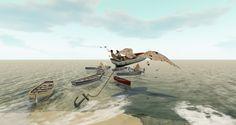 https://flic.kr/p/YDGGgd | En route sur les ailes de papier | Visit this location at Binemust in Second Life