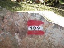 Inizio del sentiero 109
