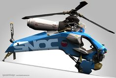 Futuristic Aircraft: Single Seat Helicopter Design by Igarashi Design
