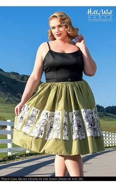 Pinup Couture - Jenny Dress in Mary Blair Commuters Print | Pinup Girl Clothing