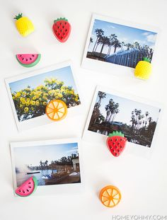 Fruit magnets and photos