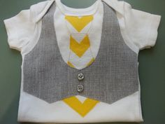 Baby Boy Tie and Vest Onesie Newborn to 24 month by BeesBabyTs, $23.00