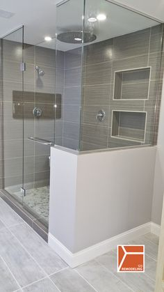 This Skokie bathroom renovation was a complete gut rehab. We demolished the existing bathroom and started from scratch. We created a modern bathroom with heated floors, fireplace, stand alone tub and standing shower