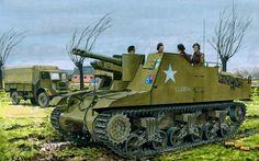 1945 Sexton II 341 Battery 86th Hertfordshire Yeomanry Field Regiment Royal Artillery - Ron Volstad