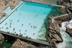 Emblematic work of architect Álvaro Siza Vieira and National Monument. Saltwater pools in Leça da Palmeira, #Portugal