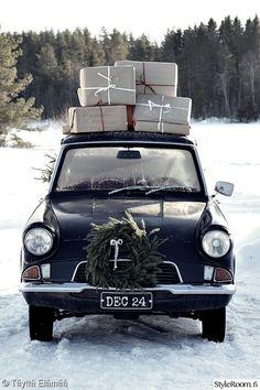 auto,joulu,joulukoriste