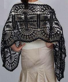 crochet.pattern.sale: شال كروشيه استخدام جديد لغرزة الاناناس