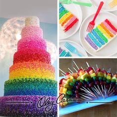 Renkli düğün pastaları ile düğününüze eğlence katın...