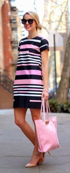 street style pink abstract stripes @wachabuy