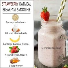 Weight Loss Smoothie Recipes, Weight Loss Drinks, Easy Weight Loss, Lose Weight, Breakfast Smoothies, Healthy Smoothies, Healthy Drinks, Healthy Food, Healthy Recipes