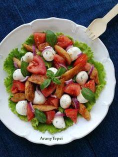AranyTepsi: Csirkés-mozzarellás-paradicsomos saláta