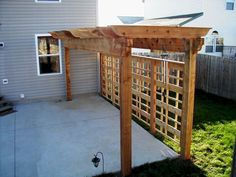 Vegatation over Pergola - Design Ideas - Archadeck Cheap Privacy Fence, Privacy Fence Designs, Backyard Privacy, Pergola Designs, Pergola Patio, Backyard Patio, Backyard Landscaping, Pergola Kits, Landscaping Ideas