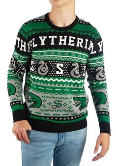 983426cc319 Adult s Harry Potter Slytherin Ugly Sweater Slytherin Harry Potter