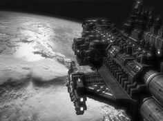 Light Cruiser Space Scene by Andrea1969