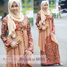 Dress Gamis Batik Terbaru untuk Pesta. Limited hanya dijual 6 buah. Grab it fast!