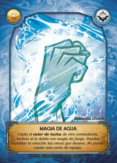 Cara: magia de Agua / Heads: Water magic. Art by MOTA and Ake Mora