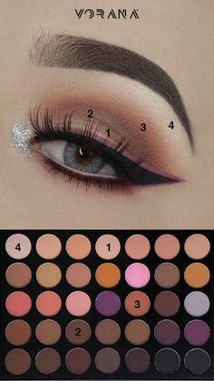 Combina colores diferentes para un look sin igual. #Sombras #Ojos #Look #Morphe