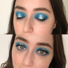 "New York City Makeup Artist on Instagram: ""I love this bright blue halo eye that I created with the @morphebrushes 35B palette, wasn't in the mood to do ..."
