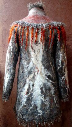 """Верхняя одежда ручной работы. Ярмарка Мастеров - ручная работа пальто валяное из войлока """"Ноябрь"""". Handmade."""