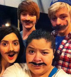 Photo of Ross Lynch, Laura Marano, Calum Worthy and Raini Rodriguez for fans of Raini Rodriguez (Trish).