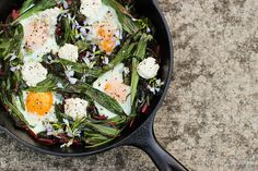 Beetroot vegetables and eggs