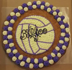 Volleyball Cookie Cake.