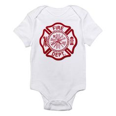 Fire Dept Body Suit for cool firefighter babies