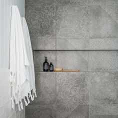 Concrete tiles in sh