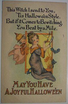 Vintage Halloween Postcard Barton and Spooner (BS) | Flickr - Photo Sharing!