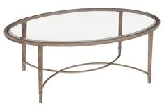 Ivar Glass Cocktail Table, Silver | Love the Look | One Kings Lane