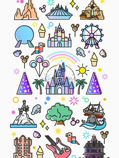 'Happiest Place on Earth Collection. It's a Small World, Haunted Mansion, Princess Castle, Manatee, Ferris Wheel Theme Park.' Essential T-Shirt by tachadesigns