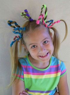 Crazy & Funky Halloween Hairstyle Ideas For Little Girls & Kids 2019 – Idea … - Hair Styles For School Cool Braid Hairstyles, Funky Hairstyles, Little Girl Hairstyles, Hairstyles For School, Halloween Hairstyles, Hairstyle Ideas, Kids Hairstyle, Toddler Hairstyles, Crazy Hair For Kids