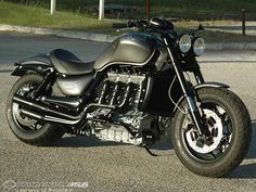 Or in polished chrome I think. And a full face helmet and sunnies to hide one's embarrassment in case of droppage.