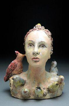 ☥ Figurative Ceramic Sculpture ☥  Debra Fritts