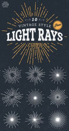 As vintage style logos and emblems have become increasingly popular I've noticed the use of hand illustrated sunburst elements on all kinds of retro inspired designs, so I decided to play around and produce a set of my own to give out my readers. Download this free set of 10 illustrated light ray vectors to …
