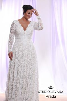 Beautiful Long Sleeve Plus Size Wedding Dresses Detachable Long Sleeve Wedding Dress  For Plus Size Bride You Can Have This Made For You In Any Size And With Any  ...