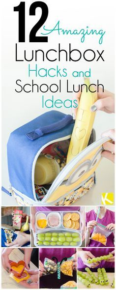 Its that time again to start gathering cool school lunch ideas! 12 Amazing Lunchbox Hacks & School Lunch Ideas