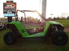 """Used 2014 Arctic Cat Wildcat Trail ATVs For Sale in Wisconsin. 2014 Arctic Cat Wildcat Trail, 700 CC, EFI, FOX SHOCKS, INDEPENDENT REAR SUSPENSION, 50"""" WIDE, LOW MILES! - . Give us a call toll free at 877=870-6297 or locally at 262-662-1500. There will be more pictures available upon request. We also offer great financing terms for qualifying credit. Call us for buying or trading your motorcycle, atv, or snowmobile."""